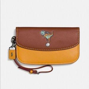 Coach Space Rexy Glovetanned Leather Clutch